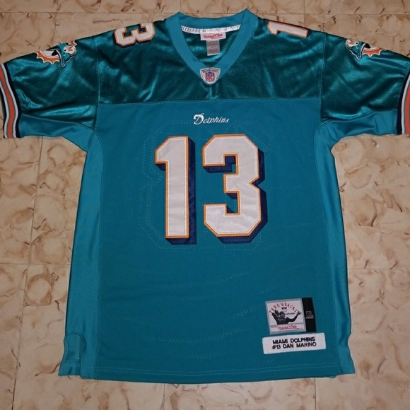 bacf1977 NFL Dan Marino Miami Dolphins #13 Throwback Jersey